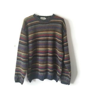 J. Crew sweater wool striped sz Large